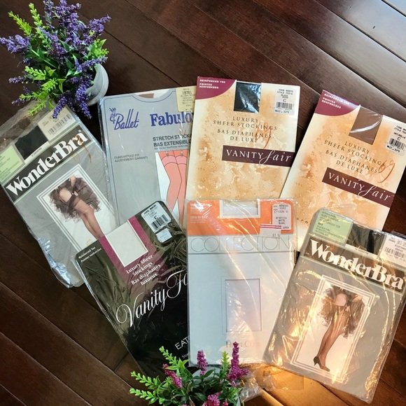 Lot of Vintage 80's Department Store Stockings